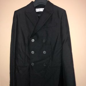Christian Dior black double breasted jacket 8